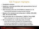 ice program highlights