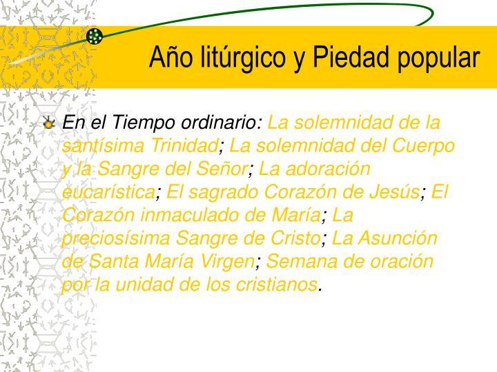 Año litúrgico y Piedad popular