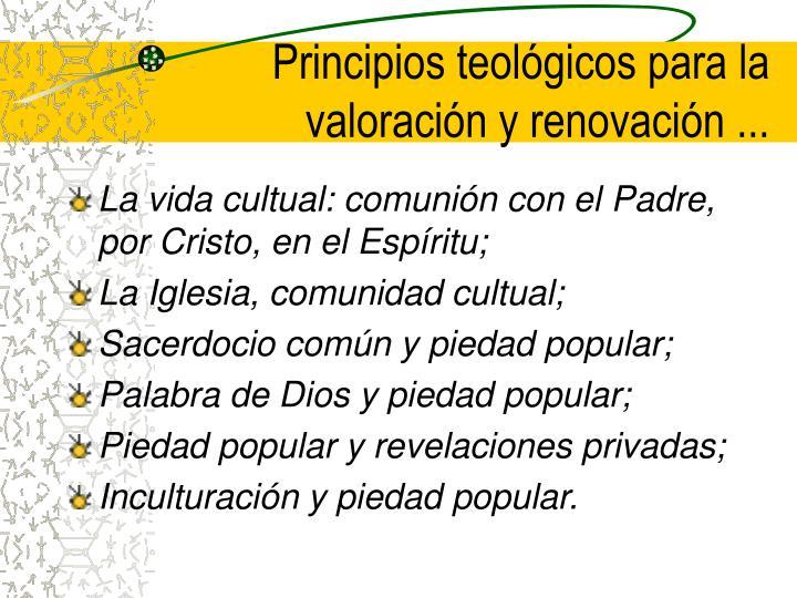 Principios teológicos para la