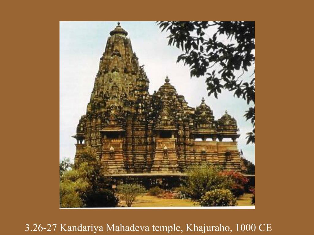 3.26-27 Kandariya Mahadeva temple, Khajuraho, 1000 CE