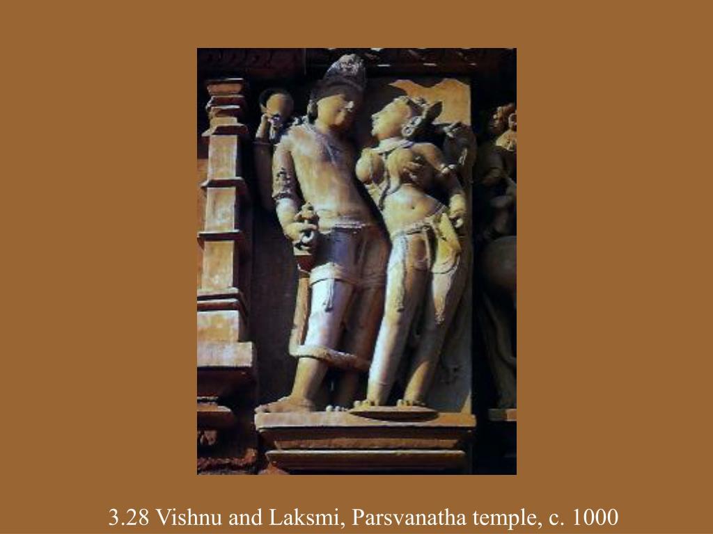 3.28 Vishnu and Laksmi, Parsvanatha temple, c. 1000