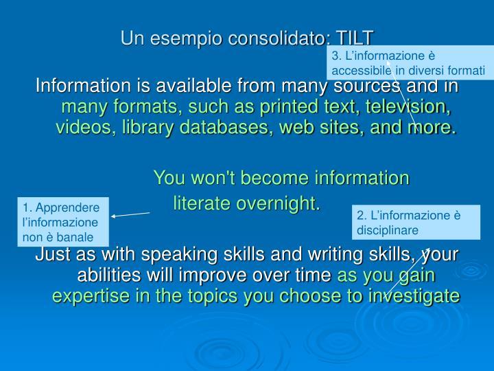 3. L'informazione è accessibile in diversi formati