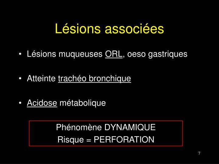 Lésions associées