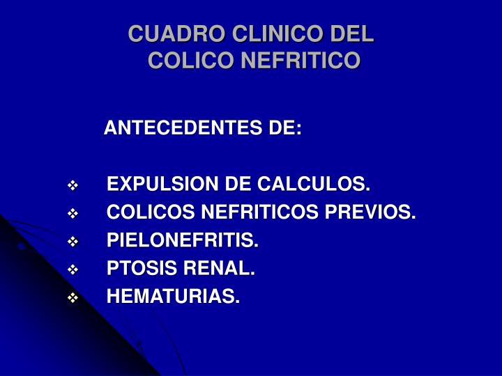CUADRO CLINICO DEL