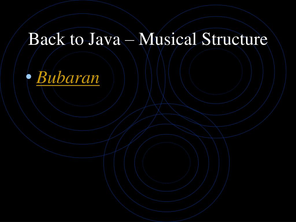 Back to Java – Musical Structure