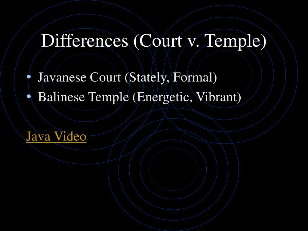 Differences (Court v. Temple)
