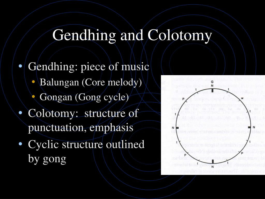 Gendhing and Colotomy