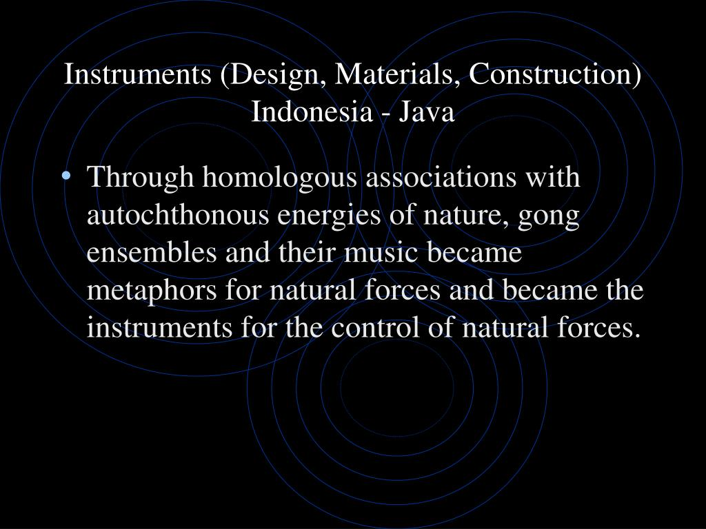 Instruments (Design, Materials, Construction)
