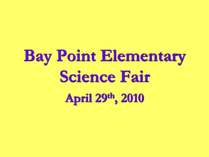 Bay Point Elementary