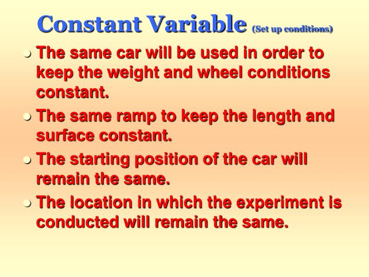 Constant Variable