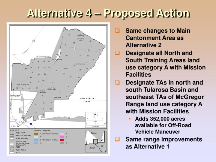 Alternative 4 – Proposed Action