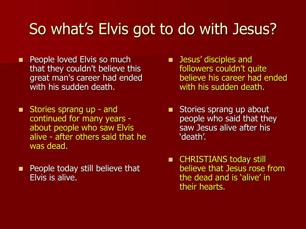 People loved Elvis so much that they couldn't believe this great man's career had ended with his sudden death.