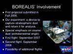 borealis involvement