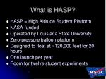 what is hasp