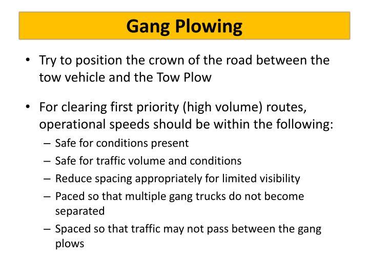 Gang Plowing