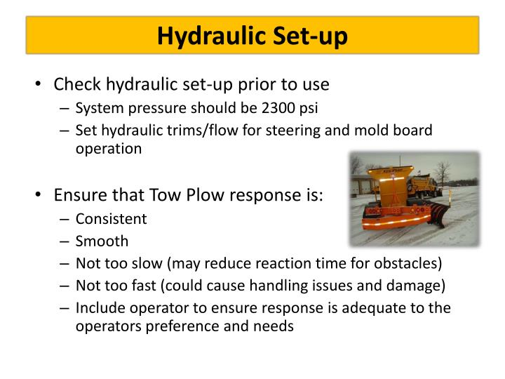 Hydraulic Set-up