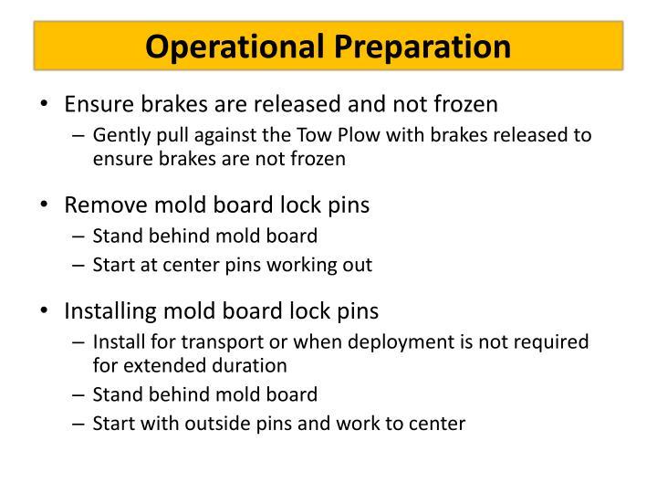 Operational Preparation