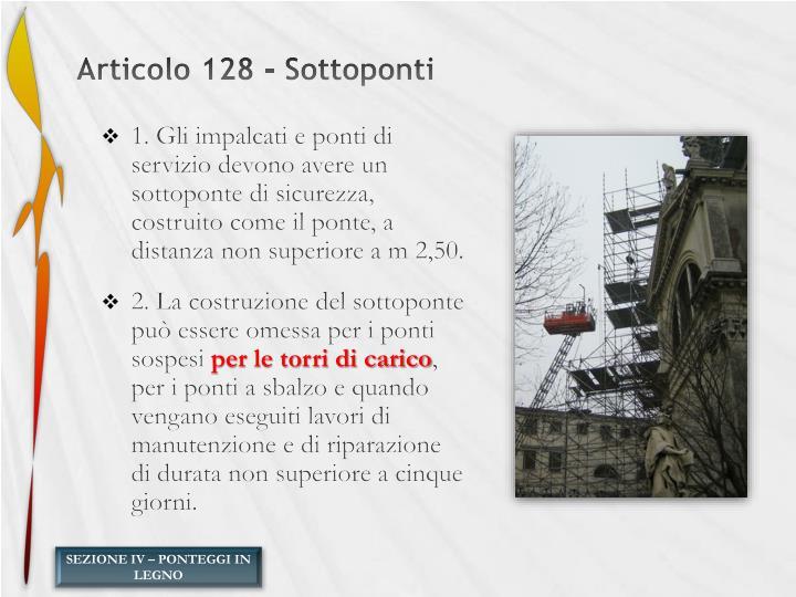 Articolo 128 - Sottoponti