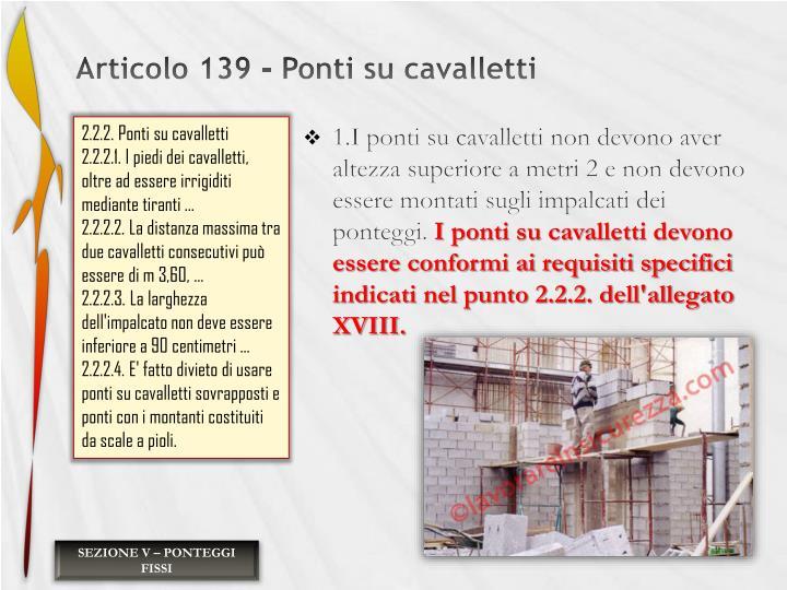 Articolo 139 - Ponti su cavalletti