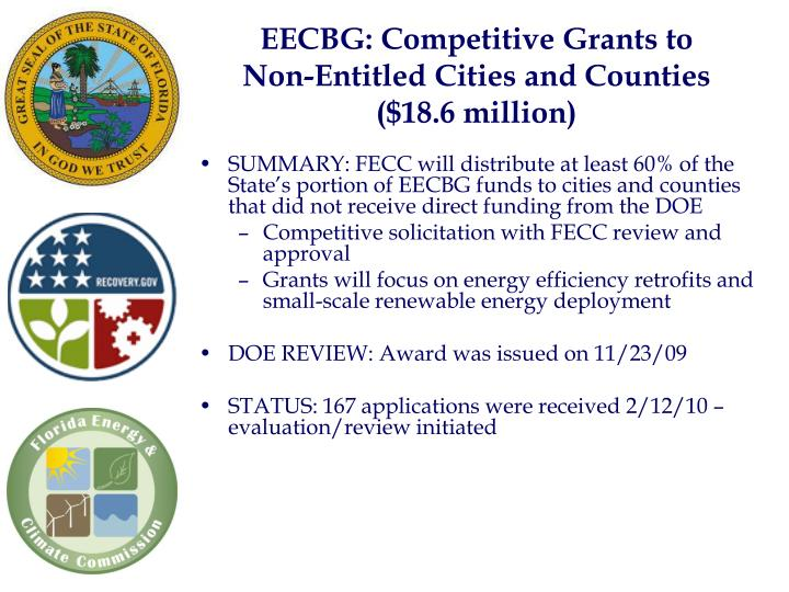 EECBG: Competitive Grants to