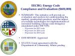 eecbg energy code compliance and evaluation 600 000