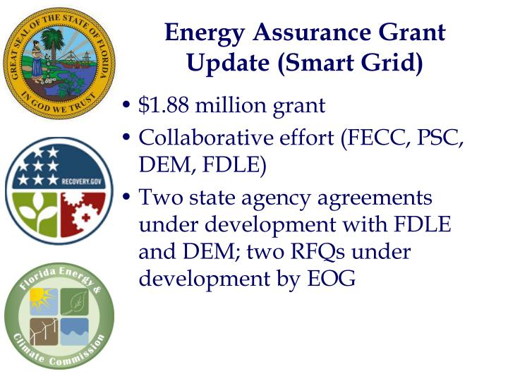 Energy Assurance Grant Update (Smart Grid)