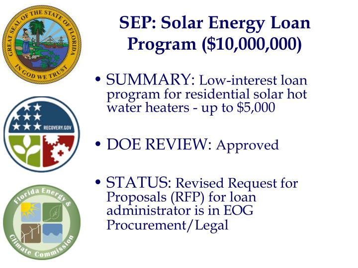 SEP: Solar Energy Loan