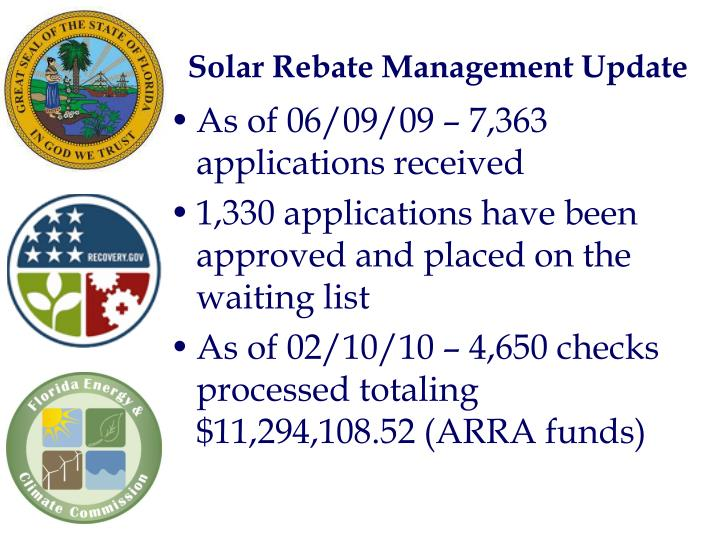 Solar Rebate Management Update