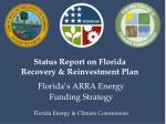 status report on florida recovery reinvestment plan