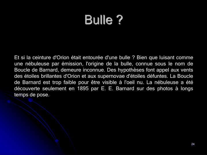 Bulle ?