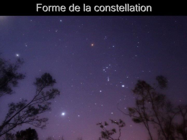 Forme de la constellation