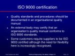 iso 9000 certification
