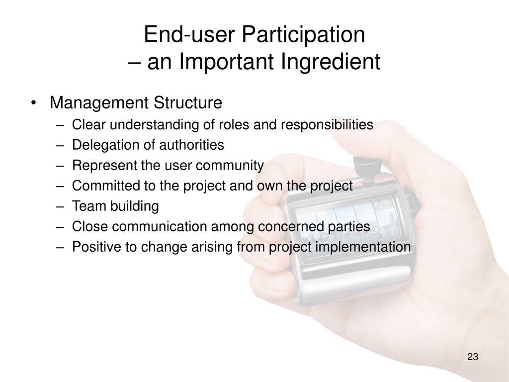 End-user Participation