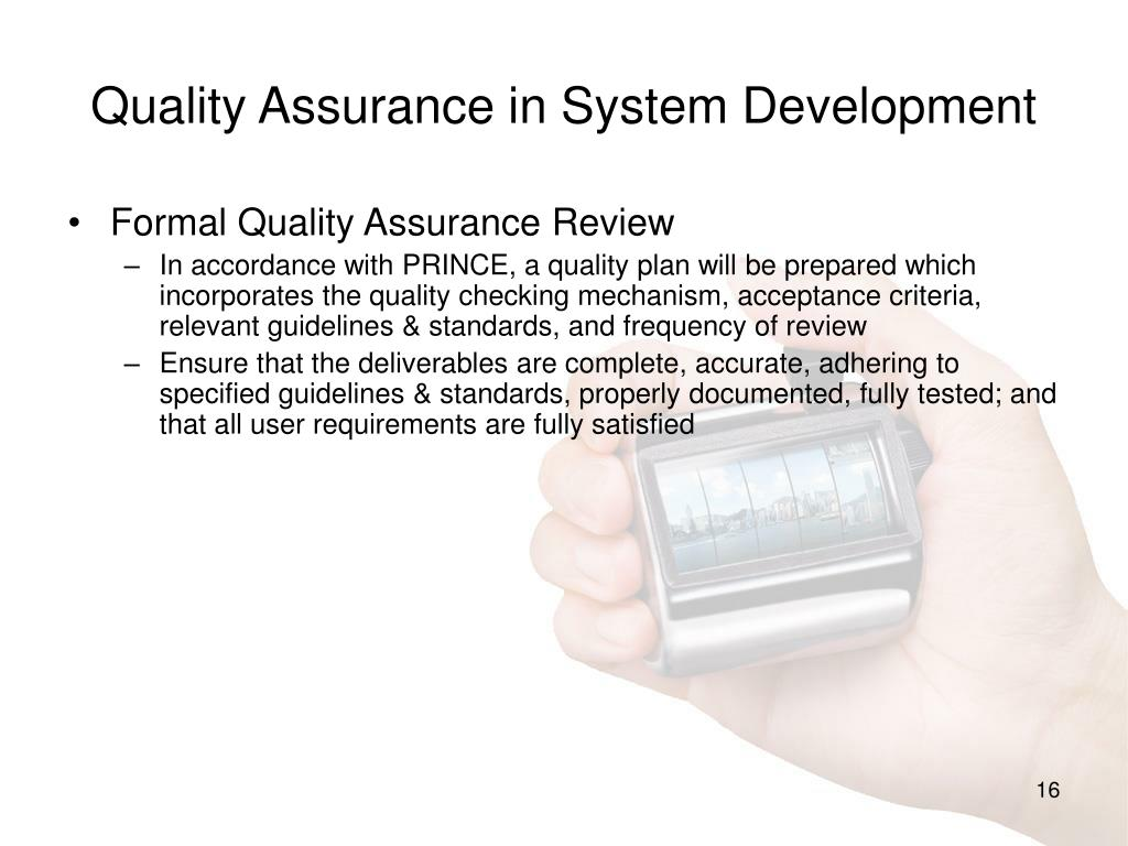 Quality Assurance in System Development