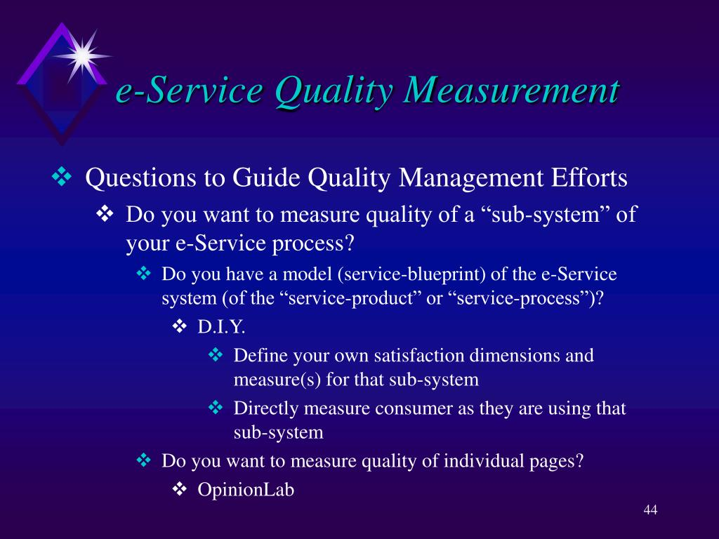 e-Service Quality Measurement