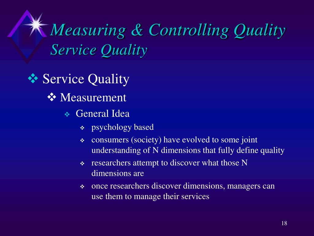 Measuring & Controlling Quality