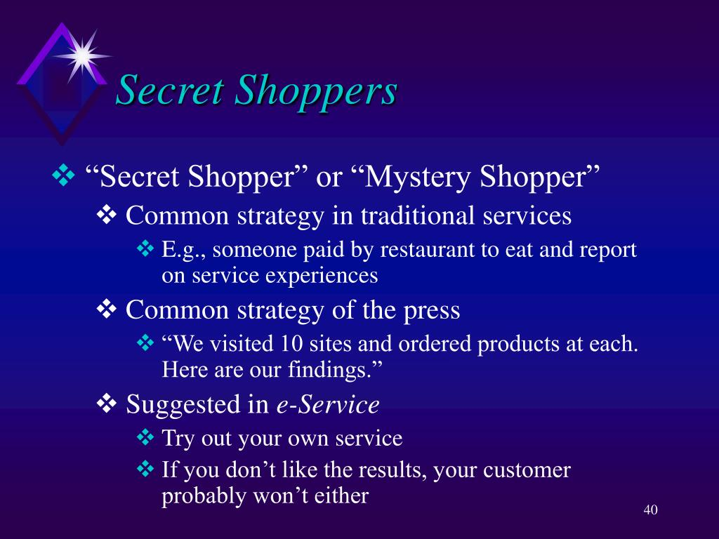 Secret Shoppers