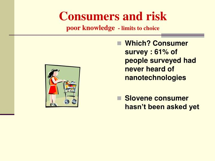 Consumers and risk