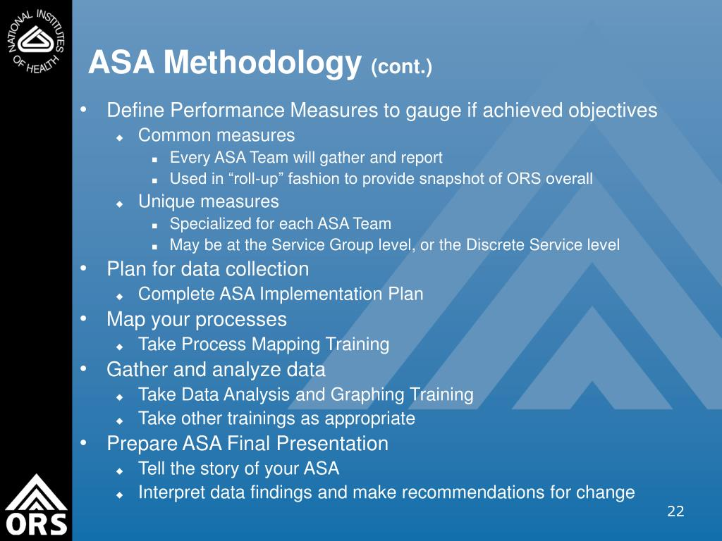 ASA Methodology