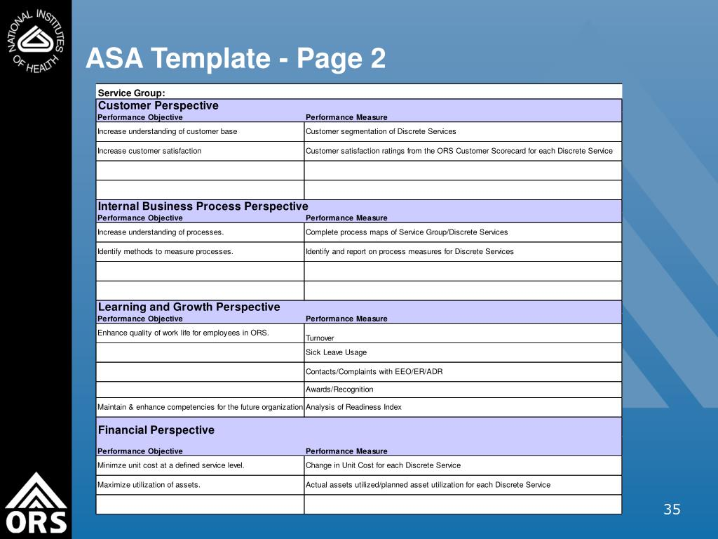 ASA Template - Page 2