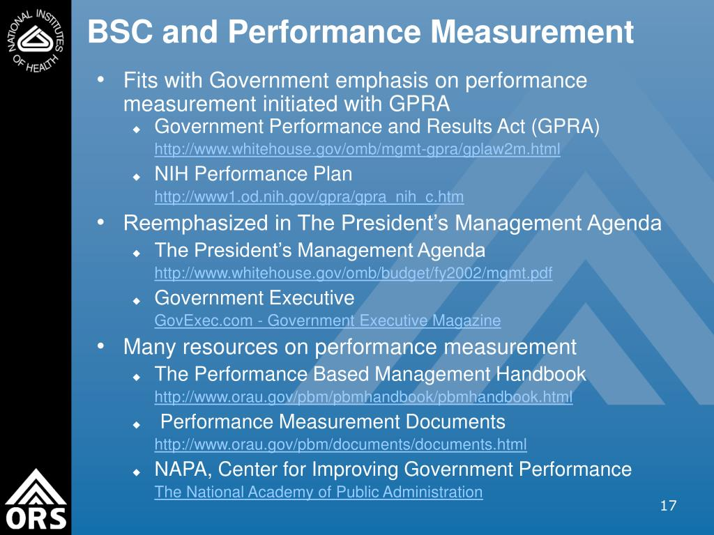 BSC and Performance Measurement