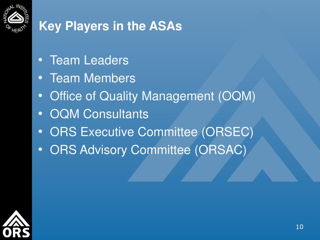 Key Players in the ASAs