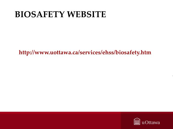 BIOSAFETY WEBSITE