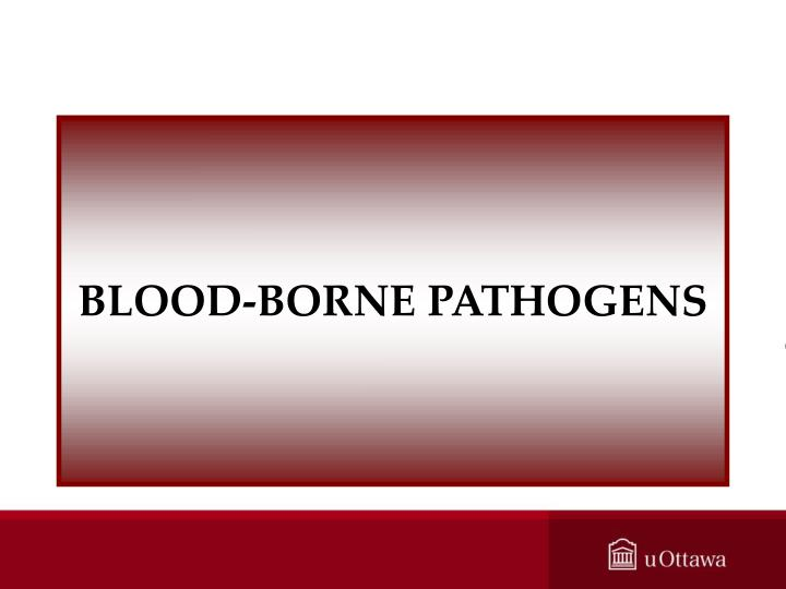 BLOOD-BORNE PATHOGENS