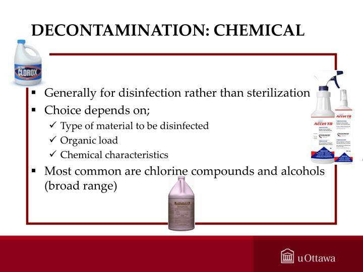 DECONTAMINATION: CHEMICAL
