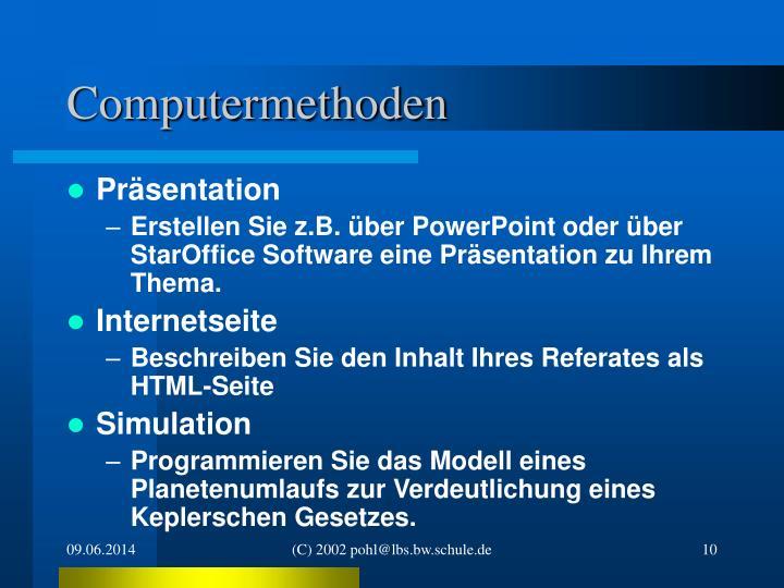Computermethoden