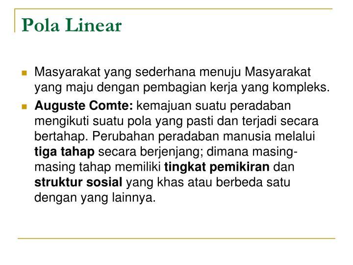 Pola Linear