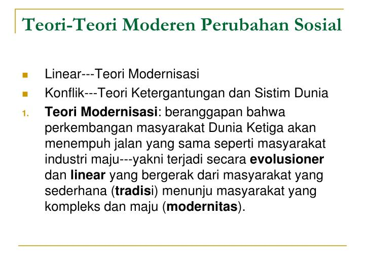 Teori-Teori Moderen