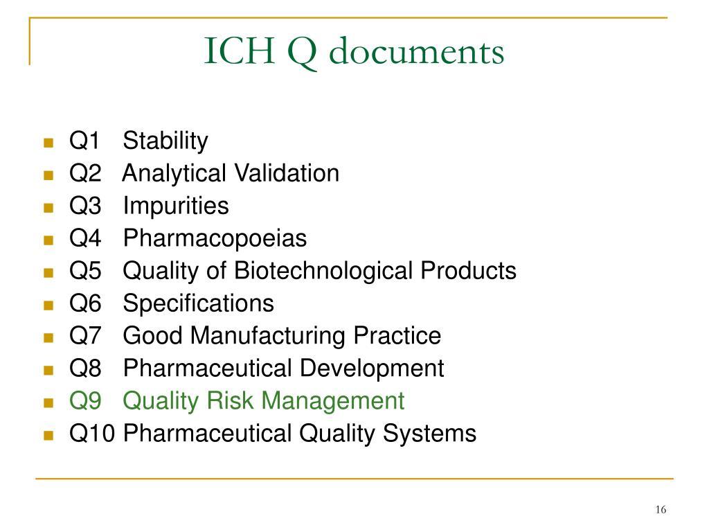 ICH Q documents