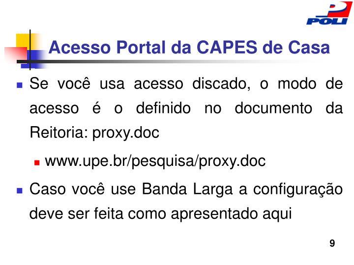 Acesso Portal da CAPES de Casa